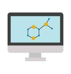 Molecular structure icon vector image