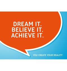 Motivational Quote That Inspire Your Success vector image vector image
