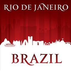 Rio de Janeiro Brazil city skyline silhouette vector image vector image