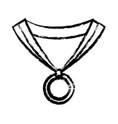 sketch medal winner prize sport design vector image