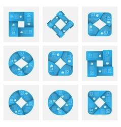 circle ribbons infographics vector image