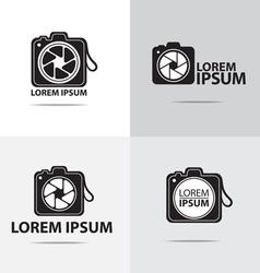 Dslr camera logo vector