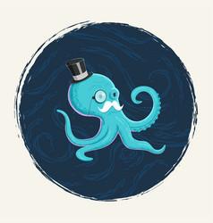 gentleman octopus vector image