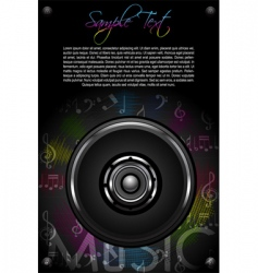 loud speaker and music notes vector image