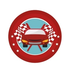 tires car emblem icon vector image
