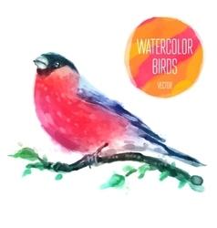 watercolor wildlife natural winter vector image vector image