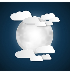 Abstract Moon and Clouds vector image