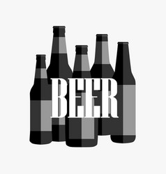 beer poster with black and white text vector image vector image