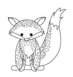 Fox cute wildlife icon vector