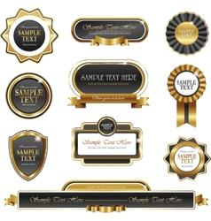 Vintage gold frame banners vector image