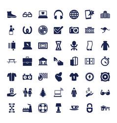 49 modern icons vector