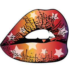 abstract colorful woman lips vector image