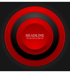 Abstract corporate red black circles design vector