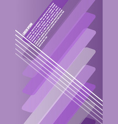 abstract leaflet flyer poster or bill template vector image