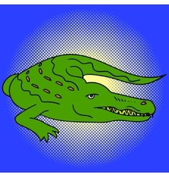 Alligator pop art vector image