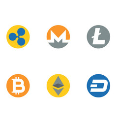 altcoins cryptocurrency icon flat design vector image