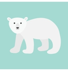 Arctic polar bear cub Cute cartoon baby character vector image