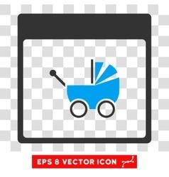 Baby Carriage Calendar Page Eps Icon vector