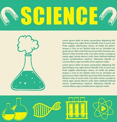 Banner design with science symbols vector