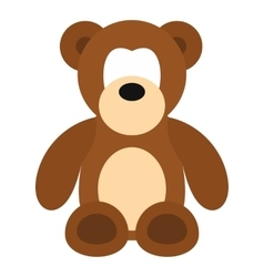 Bear toy icon flat style vector