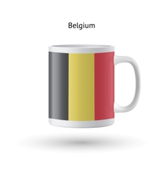 Belgium flag souvenir mug on white background vector image