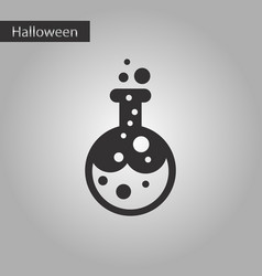 Black and white style icon halloween potion bottle vector