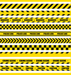 Black and yellow stripes barricade tape do not vector