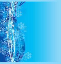 Blue cyan snowflakes background vector