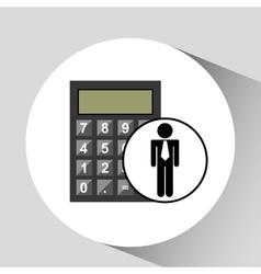 business man calculator icon vector image