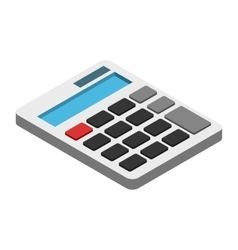 Calculator isometric 3d icon vector image