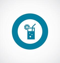 Cocktail icon bold blue circle border vector