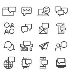 communication speech bubble message symbols vector image