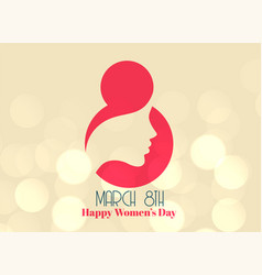 Creative 8th march happy womens day design vector
