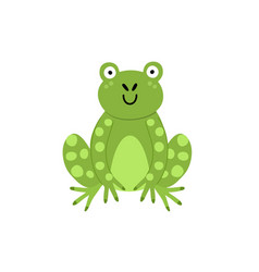cute frog print for kids funny character isolated vector image