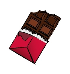 Delicious chocolate bar vector