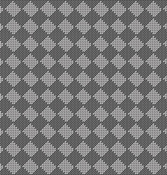 Diagonal black and white seamless fabric texture vector