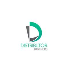 distributor partners design vector image