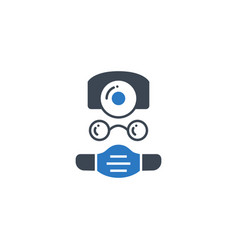 doctor related glyph icon vector image