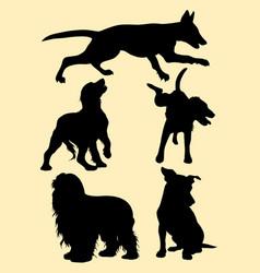 dog pet animal silhouette vector image