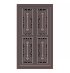 Door Entrance in classic style vector