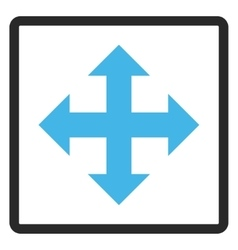 Expand Arrows Framed Icon vector image