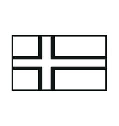 flag of faroe islands monochrome on white vector image