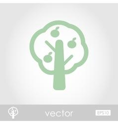 Fruit tree icon vector