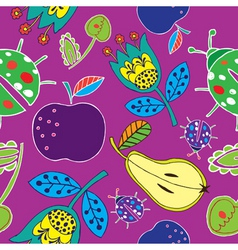 fruits print vector image vector image