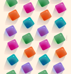 gemstones abstract seamless pattern colorful vector image