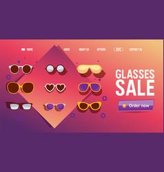 glasses online shop sale icons for website vector image
