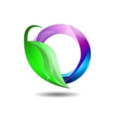 Glossy environment friendly internet company logo vector