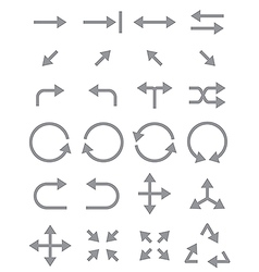 Gray arrows icons set vector image
