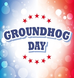 Groundhog Day card on celebration background vector
