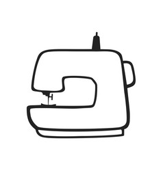 hand drawn icon of sewing machine vector image